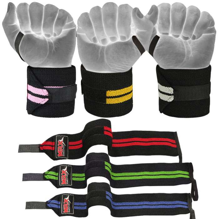 FITNESS BODYBUILDING STRAPS WRAPS TRAINING WEIGHT LIFTING GYM SUPPORT STRAPS