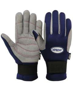 Sailing Gloves Full Finger Cold Weather Blue Grey Amara Neoprene