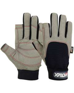 Sailing Gloves 2 Cut Fingers Glove Blue Gray Amara Leather