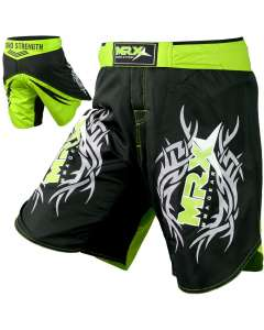 MRX Mma Fight Shorts Grappling Shorts Black Green Xl