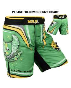 MRX MENS MMA SHORTS FIGHTING SHORTS GREEN HYDRA-1115