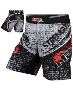 MRX MMA Fighting Shorts Black Hydra-S