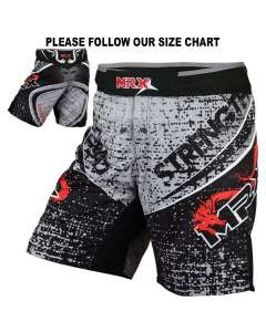 MRX Mma Fighting Shorts Black Hydra-mma-shorts-1116
