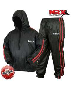 MRX Sauna Sweat Suit Weight Loss Workout Boxing MMA 1171-BR-M