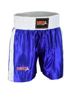 MRX MENS BOXING SHORTS FIGHTING SHORTS BLUE/WHITE-1301
