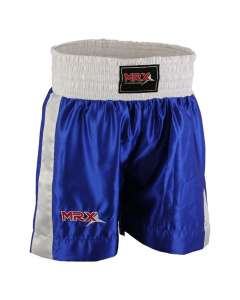 MRX Mens Boxing Shorts Fighting Shorts Blue-1301-XS