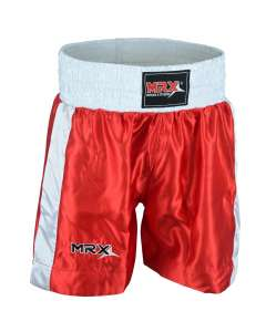 MRX Mens Boxing Shorts Fighting Shorts Red/white-1301