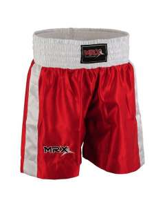 MRX MENS BOXING SHORTS FIGHTING SHORTS RED/WHITE-1301-XL