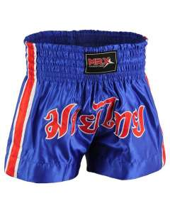 MRX Mens Boxing Shorts Fighting Shorts Blue/Red/White -1302-XS
