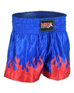 MRX Mens Boxing Shorts Fighting Shorts Blue Red Flame -1303