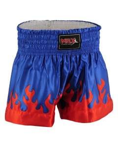 MRX Mens Boxing Shorts Fighting Shorts Blue Red Flame -1303-S