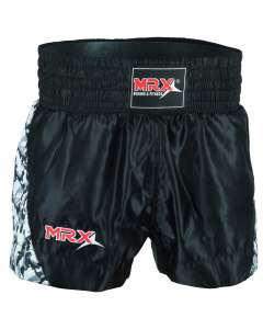 MRX MENS BOXING SHORTS FIGHTING SHORTS BLACK / GREY -1306