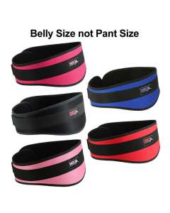 "Weight Lifting Belt For Gym Workout Back Support 6"" Wide Men & Women"