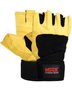 MRX MEN WEIGHT LIFTING GLOVES WITH STRAPS
