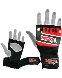 MRX Neoprene Gel Gloves With Wraps Red