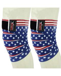 MRX Weight Lifting Knee Wraps In Us Flag