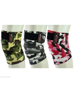 MRX WEIGHTLIFTING KNEE WRAPS GYM WORKOUT LIFTING WRAP CAMO STYLE UNISEX