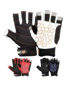 SAILING GLOVES WITH STICKY PALM 3/4 CUT FINGERS KAYAKING & MORE UNISEX