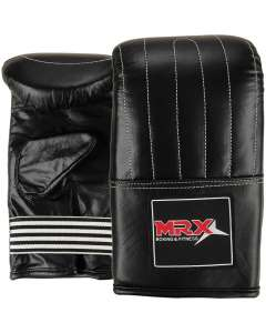 MRX Leather Bag Mitts Gloves Punching Mitt Black