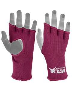 MRX Womens Training Boxing Inner Gloves Bandages Mma Fist Hand Wraps Protector Mitts-burgundy-l