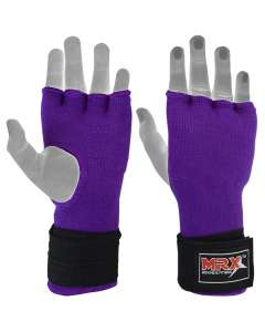 MRX Inner Gloves With Wraps Gel Padding Purple