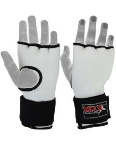 MRX Inner Gloves With Wraps Gel Padding White
