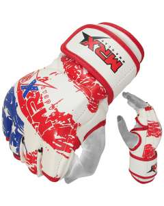 MRX Mma Fight Grappling Gloves Us Flag Glove