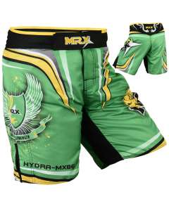 MRX Mens Mma Shorts Fighting Shorts Green Hydra-1115-s