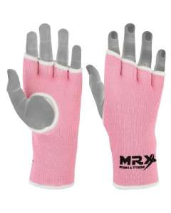 MRX Womens Training Boxing Inner Gloves Bandages Mma Fist Hand Wraps Protector Mitts-pink-xl