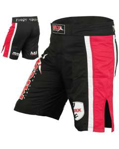 Mma Grappling Fight Shorts Mega Series Black Red Xl