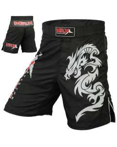 MRX Mma Fight Grappling Shorts Dragon Printed Large