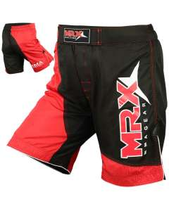 MRX Mma Fighting Shorts Black Red Small
