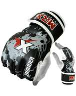 MRX Mma Fighting Grappling Gloves Black Gray